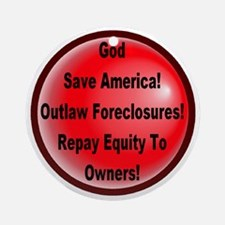 outlaw_foreclosures Round Ornament