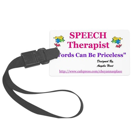 2-Speech Therapy Large Luggage Tag