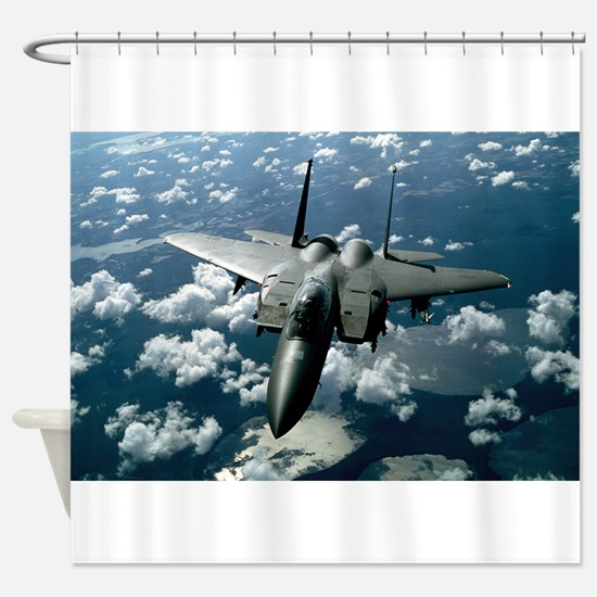 F-15 E Strike Eagle Shower Curtain