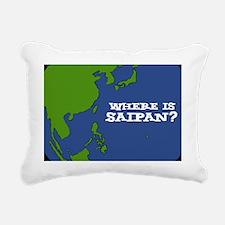 where is saipan Rectangular Canvas Pillow