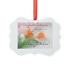 Golden Jubilee Rose Ornament