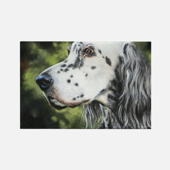 English Setter by Dawn Secord Rectangle Magnet