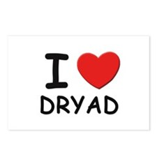 I love dryad Postcards (Package of 8)