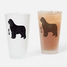 Newfie Life Shirt trans black lette Drinking Glass