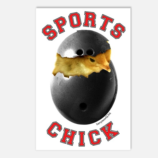 Bowling Chick 3 Postcards (Package of 8)