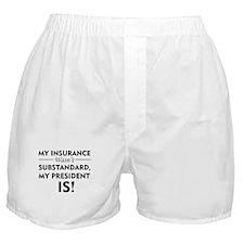 Anti Obamacare Boxer Shorts