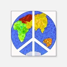 "peaceworldornament Square Sticker 3"" x 3"""