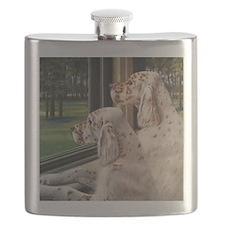 English Setter Puppies Flask