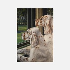 English Setter Puppies Rectangle Magnet