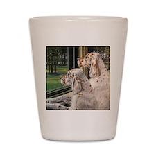 English Setter Puppies Shot Glass