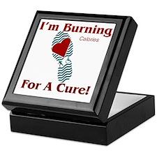 HNS GENERIC shoeL_RedTireTread3_10x10 Keepsake Box