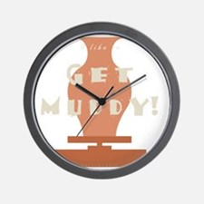 burntmud-d-muddy Wall Clock