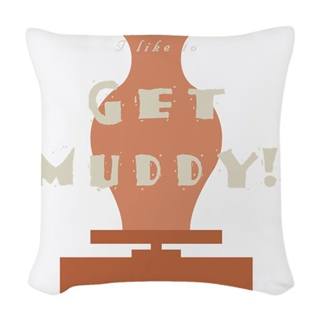 burntmud-d-muddy Woven Throw Pillow