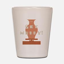 burntmud-d-muddy Shot Glass
