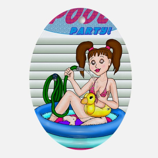 PoolParty Oval Ornament