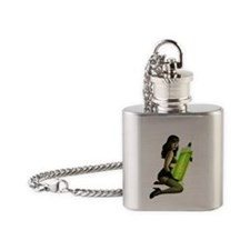 Type o negative pin up Flask Necklace