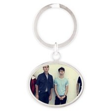 the_drums Oval Keychain