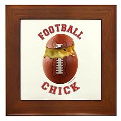 Football Chick 2 Framed Tile