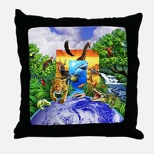 Wild World 2 Throw Pillow