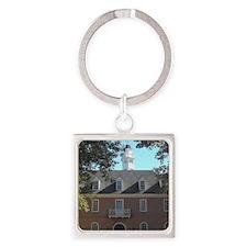 Colonial Capital Williamsburg VA Square Keychain
