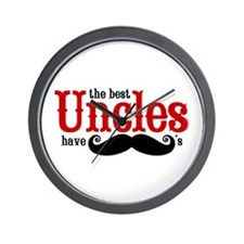Best Uncles Have Mustaches Wall Clock