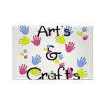 Art's & Craft's Rectangle Magnet (100 pack)