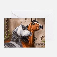 Alert_Arabians Greeting Card