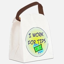 TipsButton3 Canvas Lunch Bag