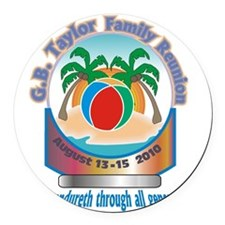 G.B. Taylor Family Reunion logo 1 Round Car Magnet