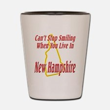 New Hampshire - Smiling Shot Glass