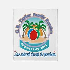 G.B. Taylor Family Reunion logo 2 Throw Blanket
