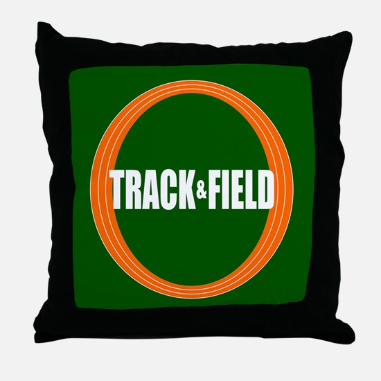 Track and Field Throw Pillow