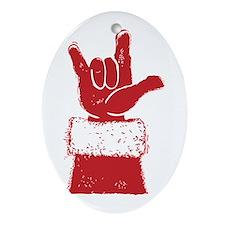 santa-loveyou-red Oval Ornament