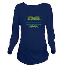 Big Croc Long Sleeve Maternity T-Shirt