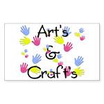 Art's & Craft's Rectangle Sticker