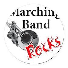 mband_trumpet Round Car Magnet