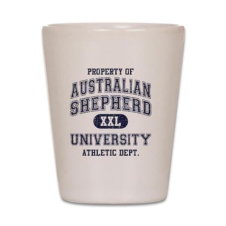 Australian-Shepherd-University Shot Glass