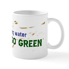 GO GREEN STICKER Mug