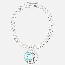 2-cloudyred copy Charm Bracelet, One Charm