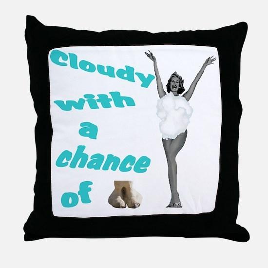 2-cloudyred copy Throw Pillow