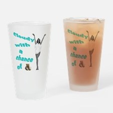 2-cloudyred copy Drinking Glass