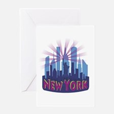NYC Newwave7 cool Greeting Cards