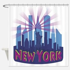 NYC Newwave7 cool Shower Curtain