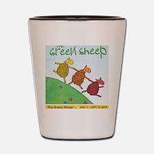 GreenSheepPosterLetterSize Shot Glass