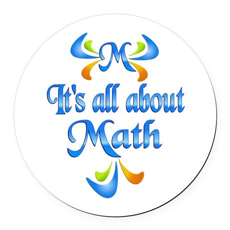 About Math Round Car Magnet