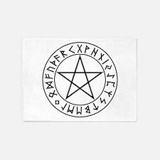 Rune Shield Pentacle 5'x7'Area Rug
