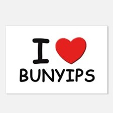 I love bunyips Postcards (Package of 8)