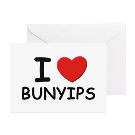 I love bunyips Greeting Cards (Pk of 10)