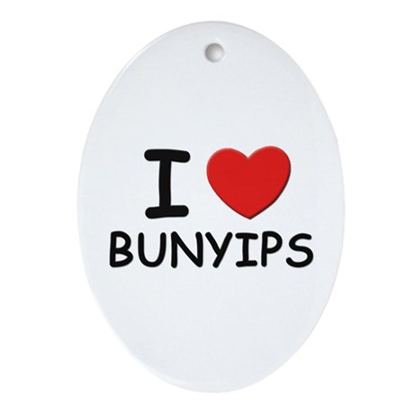 I love bunyips Oval Ornament