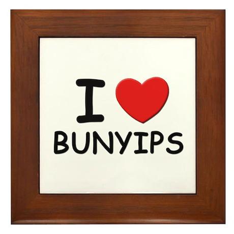 I love bunyips Framed Tile
